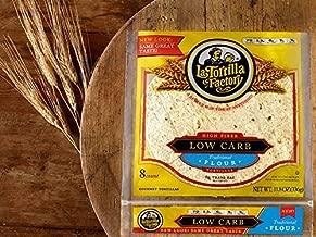 LaTortilla Factory Low Carb, High Fiber Tortillas Traditional Flour, 8 Tortillas Per Bag, 11.8 ounces