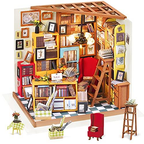 Rolife Kit da casa di Bambole in Legno di Legno in Miniatura Kit da casa con LED-Creativo Compleanno Regali di Natale per Bambini e Adulti-Sam's Study