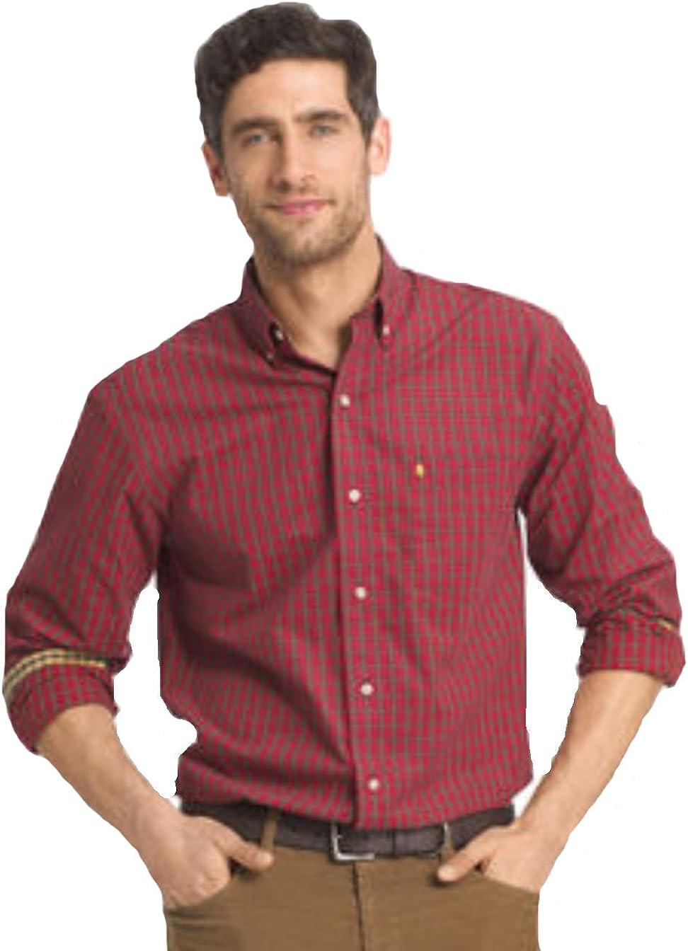IZOD Men's Big & Tall Heritage Tartan Button-Down Shirt