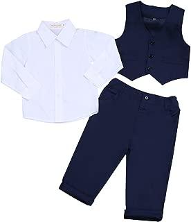 Kids Baby Boys Gentleman Wedding Outfits Vest Set