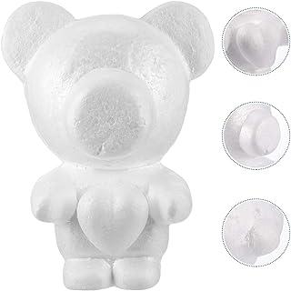 Exceart Ours en mousse 35 cm Modélisation polystyrène forme ourson blanc DIY artisanat pour fleurs arrangements cadeau fêt...