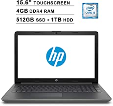 2019 Premium HP 15.6 Inch HD SVA Touchscreen Laptop (Intel Dual Core i5-7200U up to 3.1GHz, 4GB RAM, 512GB SSD(Boot)+1TB HDD, Intel HD Graphics 620, Bluetooth, HDMI, Win10, Grey) (Renewed)