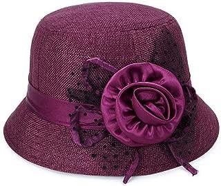 JESPER Women Spring Summer New Elegant Linen Sunshade Hat Ladies Short Brim Bowler Hat