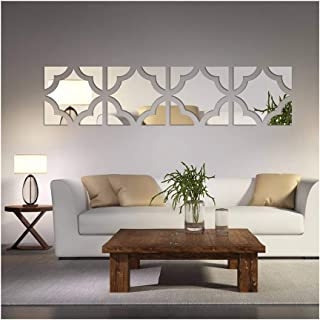 Alrens(TM)20pcs/Set Geometric Art 3D Acrylic Mirror Wall Sticker Home Decor DIY Kitchen Living Room TV Background Decoration