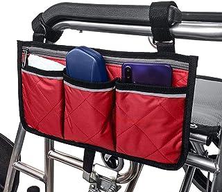 Armrest Side Bag Multifunctional Wheelchair Side Bag, Scooter Side Bag, Black Scooters for Walkers