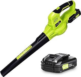 Cordless Leaf Blower - Electric Leaf Blower...