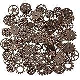 200 gramos surtidos de metal de bronce steampunk fabricación de joyas encantos Cog...