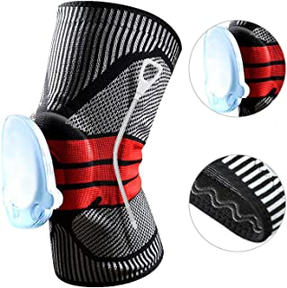 Chinashow Set of 2 Upgrade Professional Sports Knee Braces Medical Grade Compression Knee Pads Orthopedic for Pain Gray