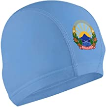 Unisex Coat of Arms of Former Yugoslav Republic of Macedonia National Emblem Swim Cap, Shower Cap, Bathing Cap, Pool Hat