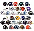"NFL New 2017 Helmet Set. All 32 Teams. Mini Football 2"" Inch Helmets. Complete Team Logo Cake Toppers Party Favors. Collectible Gumball Vending Steelers Chiefs Cowboys Patriots Packers Bears Jets"