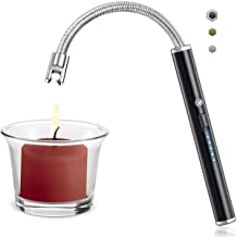 Upgrade USB Charging Arc Lighter (Black), 360° Elastic Neck, Suitable for Lighting Candles, Gas Stoves, Camping Cooking, B...
