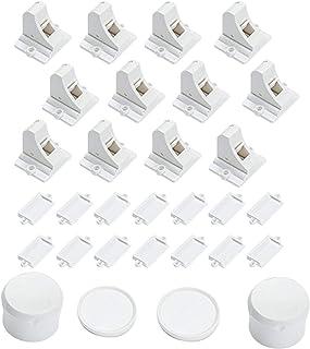 Vmaisi Adhesive Magnetic Cabinet Locks (12 Locks and 2 Keys)