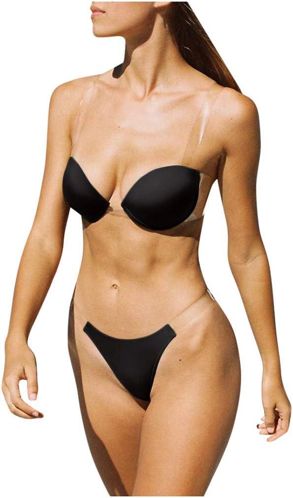 YOMXL Women Max 58% OFF Sexy Max 42% OFF Push-Up Padded strap B shoulder Transparent Bra