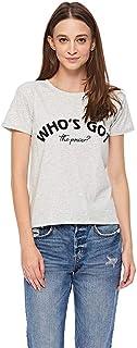 Lee Cooper Slogan T-Shirt for Women - Grey