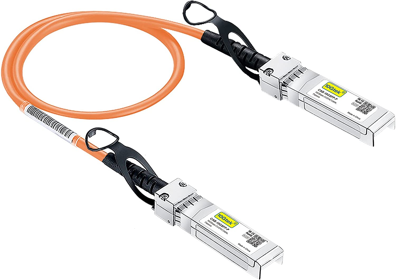 [Orange] Colored 10G SFP+ DAC Cable - Twinax SFP Cable for Ubiquiti UniFi Devices, 0.3-Meter(1ft)