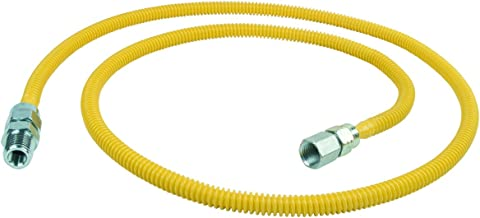 BrassCraft CSSL87-60 P 3/8-Inch FIP x 3/8-Inch MIP x 60-Inch ProCoat Gas Appliance Connector with 3/8-Inch OD