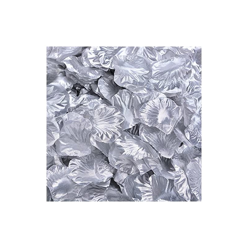 silk flower arrangements 1000 pcs silk rose petals fake petals for wedding decoration festive supplies (silver)
