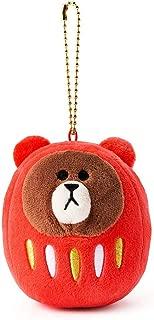 Line Friends Brown Mini Daruma Plush Doll 3
