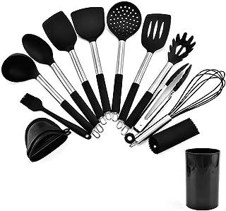 硅胶厨具13件套厨房铲子食物夹不粘锅厨具铲勺工具套装 剥蒜器