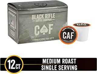 CAF Caffeinated As [Redacted] Medium Roast Single Serve Coffee Rounds by Black Rifle Coffee Company | 12 Count Coffee Pods | Compatible with Keurig K Cup Brewers | Coffee Lovers Gift