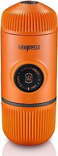 Wacaco Nanopresso Portable Espresso Maker, Upgrade Version of Minipresso, 18 Bar Pressure, Orange Patrol Edition, Extra Small Travel Coffee Maker, Manually Operated. Perfect for Kitchen and Office