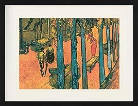 1art1 Vincent Van Gogh - Les Alyscamps, Hojas Cayendo, 1888 Póster De Colección Enmarcado (80 x 60cm)
