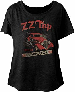 American Classics ZZ Top Rock Band Music Group Eliminator Album EST 1969 Ladies Slouchy Tshirt Tee