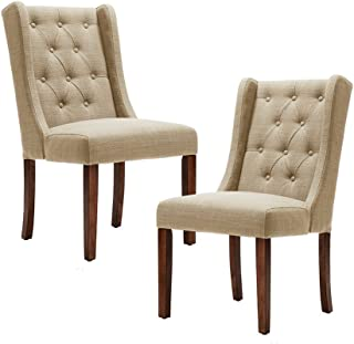 Madison Park Cleo Dining Chair (Set of 2) Cream See Below
