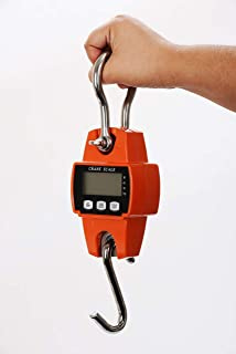PEC Scales 600lbs Heavy Duty Industrial Digital Crane Scale, Metal Hanging Scale With Screen Display