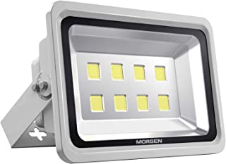 Morsen LED Flood Light 400W, IP65 Waterproof Indoor Outdoor Security Light 40000 LM 6000K Daylight Wall Light Spotlight for Parking Lot Basketball Football Court Warehouse Commercial Lighting