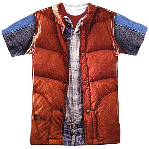 Back to the Future Marty McFly Costume T-shirt for Adults