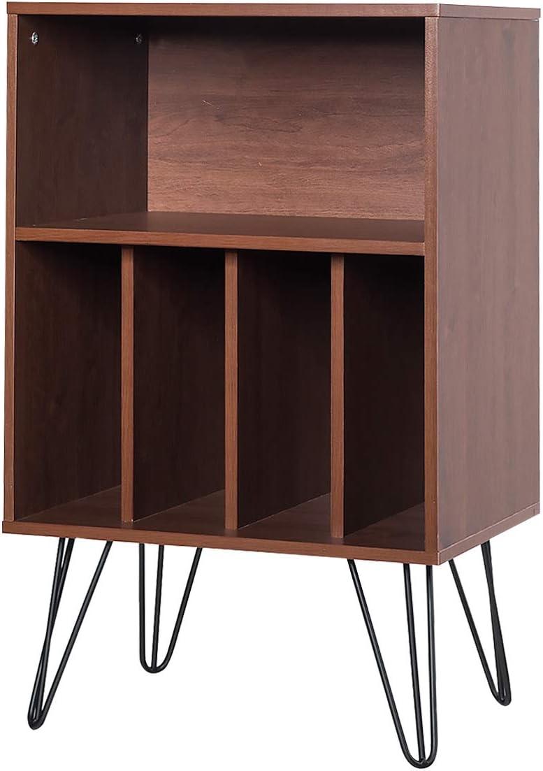 Giantex Nightstand Free Standing Display Bookshelf Mesa Mall Max 71% OFF Split W Stor