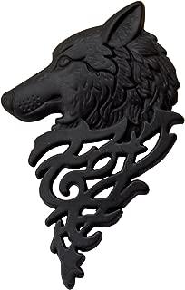 SENYON ピンズ 狼 牙 ピンバッジ ラペルピン 戌 (黒)