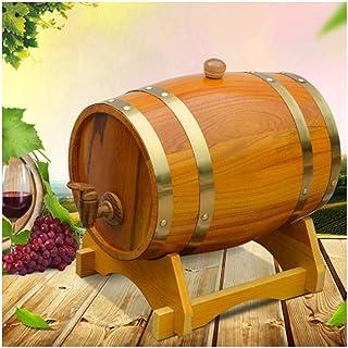 Tonneau à vin en Bois Seau à Whisky en Bois, Baril De Chêne Rétro Fontaine à Eau, 1.5L / 3L / 5L / 10L Stocker Votre Propr...