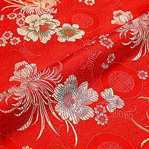 MUYUNXI Tela De Raso Forro De Tela para Vestidos De Novias Fundas Artesanas Vestidos Blusas Ropa Interior 75 Cm De Ancho Vendido por Metro(Color:Rojo)