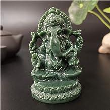 Statue Ornaments Lord Ganesha Statue Elephant God Sculpture Figurines Stone Buddha Ornaments Home Garden Flowerpot Decoration