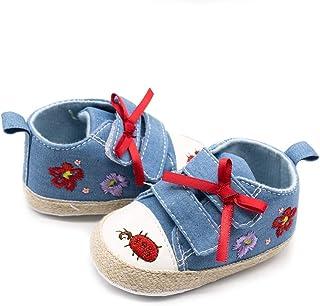 [SHINY STAR] ベビーシューズ 赤ちゃん ファーストシューズ 男の子 スニーカー 春夏 カジュアル キャンバス マジックテープ やわらかい 歩行練習 プレゼント 出産お祝い 1-12ヶ月
