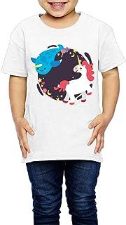 海の動物のユニコーン 子供服 キッズ 半袖 Tシャツ 綿100% 3 Toddler