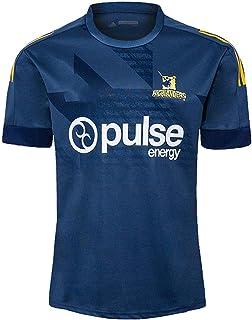2020ニュージーランドハイランダーズトレーニングラグビージャージワールドカップメンズラグビーシャツ半袖ラグビー服スポーツポロシャツフットボールTシャツS-5XL-S_青い
