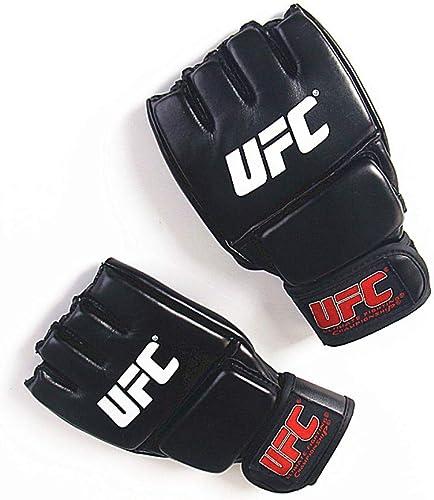 KMCC Gant Boxe Gants De Boxe en Cuir PU MMA Sparbague Kick Gym Sac De Boxe