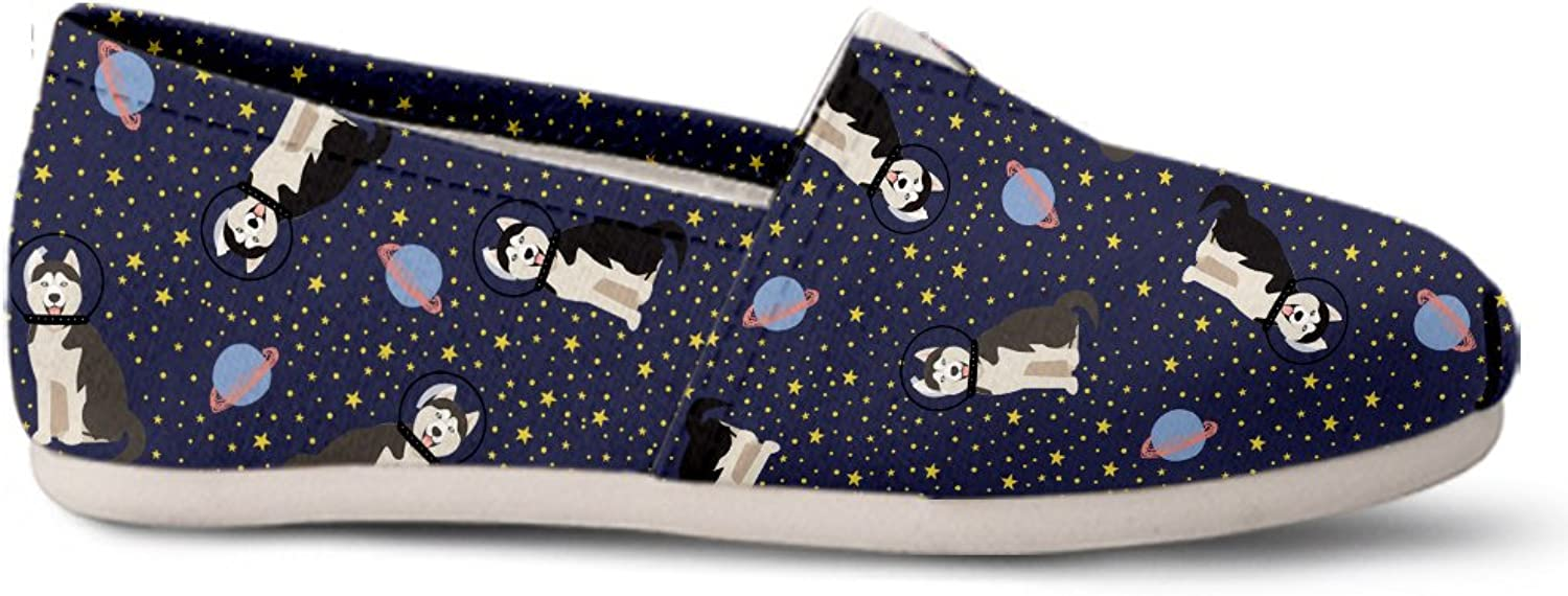 Gnarly Tees Space Siberian Husky Casual shoes
