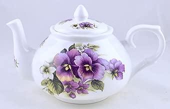 Pansy Wrap Chintz - English Bone China Teapot - Adderley of England