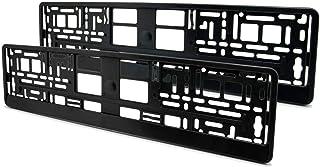 OptimumParts24 2 Kennzeichenhalter KHP_4 schwarz matt mit befestigung ohne werbung Dezent 52,5cm x 13cm nicht für Österreich oder Schweiz