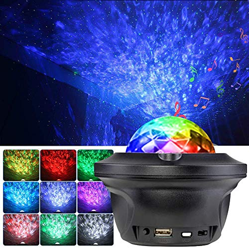 KEEPBLANCE LED Sternenhimmel Projektor, Galaxy Projektor, Sternenlicht Ozeanwellen Projektor, Kinder Projektor mit Bluetooth Fernbedienung für Kinder schlafzimmer, Party, Heimkino zimmerdeko