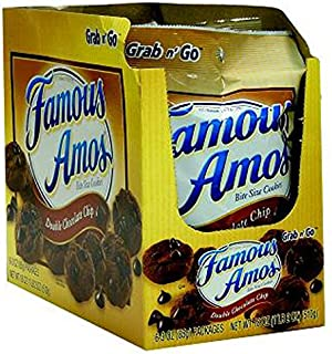Product Of Famous Amos, Grab N Go Double Chocolate Chip, Count 6 (3 oz) - Cookie & Cracker / Grab Varieties & Flavors