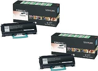 Genuine Lexmark E260A11A Black Toner Cartridge 2-Pack