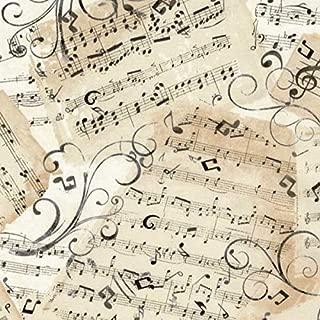 Timeless Treasures Fabrics Classical Music Natural Music Sheets