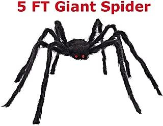 COOLJOY 5FT (60 INCH) Giant Halloween Spider Halloween Decorations Virtual Realistic Hairy Spider Halloween Outdoor Decoration