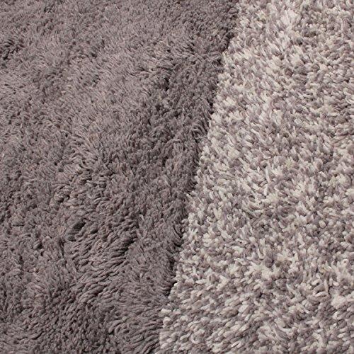 北欧風トリコリコインテリアマットキッチンマットインド綿滑り止めイッソエッコ45×120cmグレー