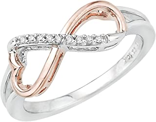 KATARINA Heart Shaped Infinity Diamond Ring in Sterling Silver Two Tone (1/20 cttw, J-K, I1-I2)
